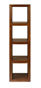 Cube Indian Rosewood Tall Display Unit / Solid Sheesham Indian Rosewood Tall Bookcase / Modern Living Room Furniture