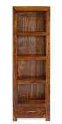Cube Indian Rosewood Tall Bookcase / Solid Sheesham Indian Rosewood Bookcase / Modern Living Room Furniture