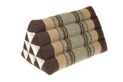 Thai Triangle Pillow with natural kapok filling, Bamboogreen