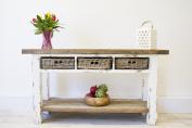 Reclaimed Pine Coastal Console Table