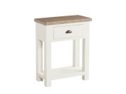 Cycladic Solid Pine Hand Painted Small Hall Table - Stone painted Pine 1 Drawer Console Table with Undershelf - Finish : Tops - Ash Colour and Base Stone Painted - Hallway - Living Room - Dining Room Furniture