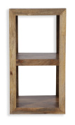 Cube Mango Wood Small Display Unit / Table / Solid Mango Wood Side Table / Modern Living Room Furniture