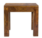 Cube Indian Rosewood Lamp Table / Solid Sheesham Indian Rosewood End Table / Modern Living Room Furniture