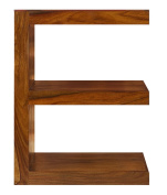 Cube Indian Rosewood E Shaped Display Unit / Solid Sheesham Indian Rosewood Quirky Table / Modern Living Room Furniture