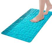 Long Bathtub Mat,Anti-Slip Anti-Bacterial PVC Tub Mat,Clear Shower Mat,Simple Deluxe Slip-Resistant Bath Mats-38cm x 70cm