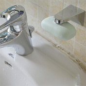 Practical Bathroom Using Magnetic Soap Holder Adhesion Wall Soap Dish Sink Silver Colour