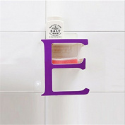 Strong Suction Creative Decoration E-Shape Bathroom Wall Shelves Sucker Storage Rack-Purple