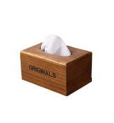 Restbuy Wood Tissue Box Covers Napkin Holder Case for Bathroom Living Room any Room House Office Hotel Use