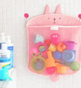Kids Baby Bath Toy Organiser Storage Shower Caddy With Strong Suction Cups, Toddler Bathtub Storage Toy Holder