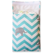 Tiny Tote Along Nappy Bag - Baby Chevron Elephants