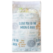 Tiny Tote Along Nappy Bag - I Love You To The Moon Text