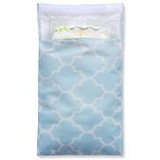 Tiny Tote Along Nappy Bag - Blue/White Pattern