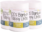 Bamboo Nappy Liners Wipes 600 sheets, Multi-purpose, Eco Friendly environmentally safe, Flushable 100% Biodegradable