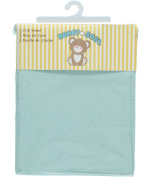 Honey Baby Fitted Crib Sheet - mint, one size