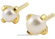 Studex System 75 ear piercing studs pearl 2mm 24k gold 7531-1301-23