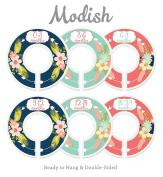 Modish Labels Baby Nursery Closet Dividers, Closet Organisers, Nursery Decor, Baby Girl, Flowers, Pink, Mint, Navy Blue, Arrows, Tribal