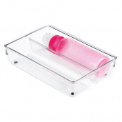 mDesign Kitchen Drawer Organiser for Baby Bottles, Formula - 15cm x 23cm x 5.1cm , Clear