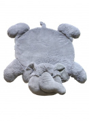 Baberoo Elephant Plush Nursery Rug, Soft Baby Rug, 90cm x 80cm