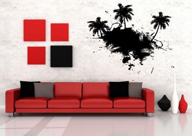 Wall Vinyl Sticker Decals Mural Room Design Decor Art Palm Tree Tropical Nature Branch bo2337