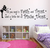 Wall Decal Sticker Bedroom Tinkerbell Quote All You Need Faith Cartoon Kids Girls Boys Teenager Room 633b