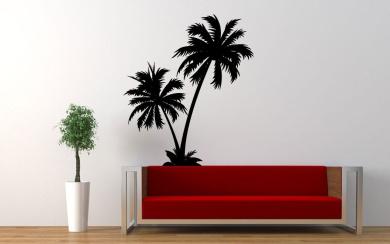 Wall Vinyl Sticker Decals Mural Room Design Pattern Art Decor Palm Tree Beach Nature Art bo2236