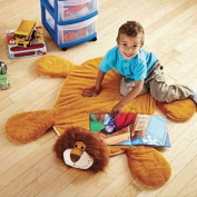 New Mainstays Skid-Resistant Cuddle Rug Adorable Design Ideal for a Child's Bedroom or Play areas for your Children Boys or Girls with Pillow stuffed heads, Floppy legs and Bodies - BEAR