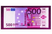 Microfiber Beach Towel 500 Euro Bill Print 100% Polyester 70cm x 140cm