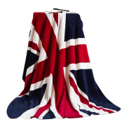 150cm x 200cm British Flag Bed Sofa Blanket Couch Cover Luxury Super Soft Flannel Warm Plush Fleece Bed Throw Quilt Blanket Bedspread for Couch Sofa Bed Car Travel Bedding Blankets Machine Washable