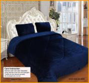 Dovedote Borrego Super Soft Plush Reverses to Sherpa Blanket, Queen, Blue