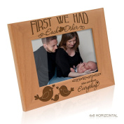 Kate Posh - First we had each other, then we had you, now we have Everything - Engraved Solid Wood Picture Frame