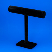 Adorox Black Velvet T-Bar Jewellery Bracelet Organiser Display Stand Tier Home Showcase
