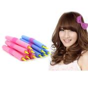 HuaYang 12Pcs Head plug design Sponge Hair Curlers Makers Soft Foam Hair Rollers Bendy Twistee Set