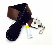 Straight Edge Razor Raw Cowhide Leather Sharpening Strop Strap & Dovo Paste Made in Germany