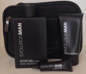 Evolution Man Kit NuNoir Face & Body Wash, Revitalise eye gel, Moisture Protect SPF 20 lotion and Bag