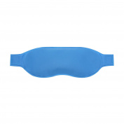 Mermaid Gel Hot & Cold Therapy Eye Mask Pack, Blue Vinyl - Reusable, Microwavable, Freezable - Provides Relief for Bruises, Puffy Swollen Eyes, Fatigue, Headache, Tension
