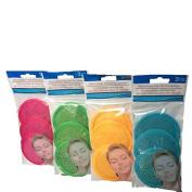 Microfiber Facial Scrubbers-Pink,Green,Yellow,Blue-Total 12 Scrubbers