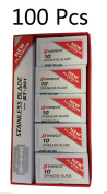 Wennow 100 Pcs Dorco Platinum ST-301 Stainless Double Edge Safety Blades
