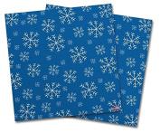 WraptorSkinz Vinyl Craft Cutter Designer 12x12 Sheets Winter Snow Royal Blue - 2 Pack