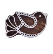 Brown Bird Vintage Wooden Textile Stamps Indian Decorative Stamp Block