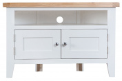 Hartwell White Painted Corner TV Unit
