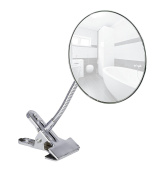 Wenko 22195100 Clip 12.0 x 12.0 x 26.6 cm Stainless Steel Cosmetic Mirror Chrome