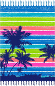 Palm Tree Oversized Double Beach Towel with Fringe - Beach Blanket