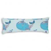Veronicaca Cute Whale Custom Cotton Body Pillow Covers Pillow Cases 50cm x 140cm