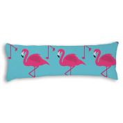 Veronicaca Pink Flamingo Pattern Custom Cotton Body Pillow Covers Pillow Cases 50cm x 140cm