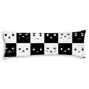 Veronicaca Cute Cartoon Expressions Custom Cotton Body Pillow Covers Pillow Cases 50cm x 140cm