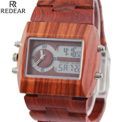 MSB Bamboo watches / dual movement men's watches / sandalwood sports watches