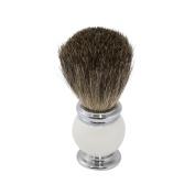 Men's Pure Badger Shaving Shave Brush with White Enamel Handle