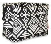 Ever Moda Black Mayan Cosmetic Pouch