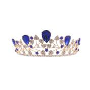 OULII Women Wedding Bridal Tiara Crown Baroque Tiara Barrettes Hairband Clip