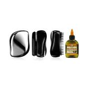 PU Beauty Beard Maintenance Palm Brush with Luxurious Shea Butter Oil Grooming Kit for Men, 150ml